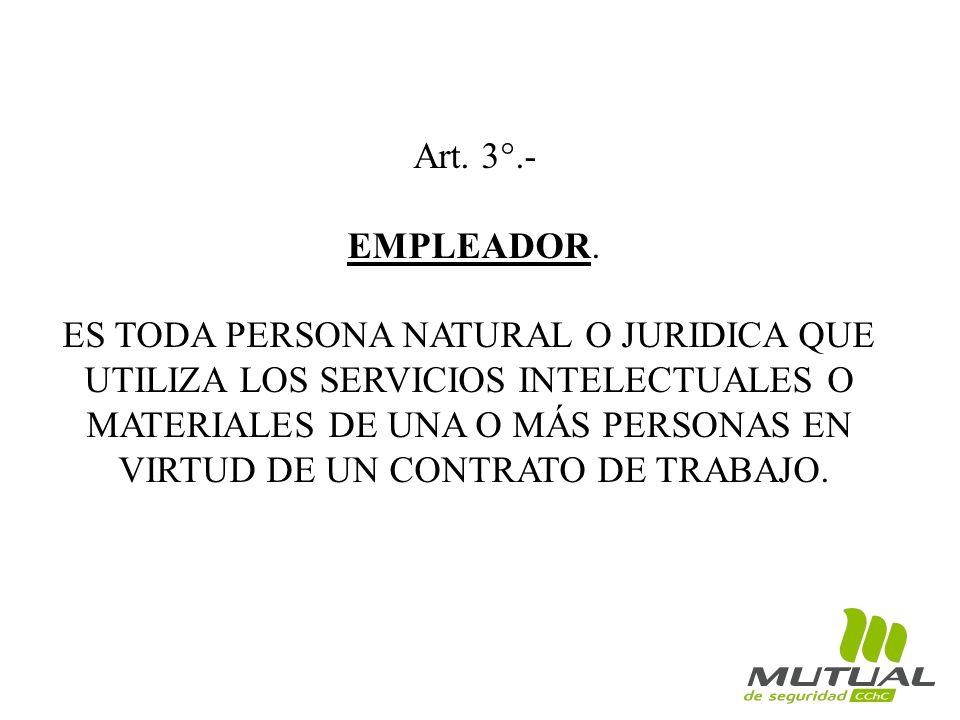 Art.3°.- EMPLEADOR.