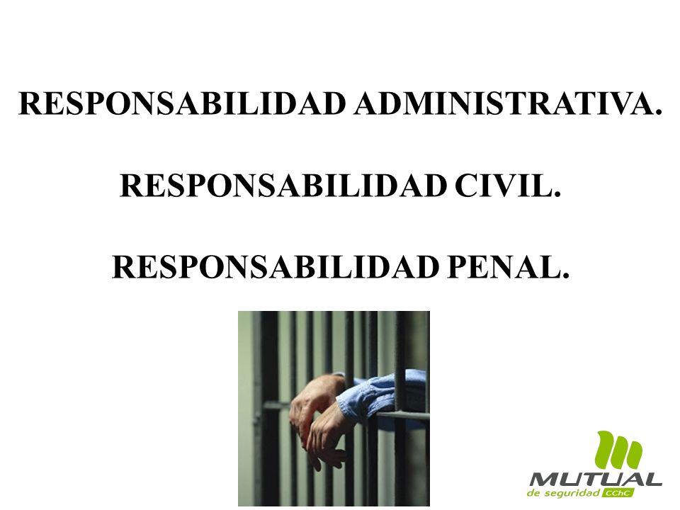 RESPONSABILIDAD ADMINISTRATIVA. RESPONSABILIDAD CIVIL. RESPONSABILIDAD PENAL.