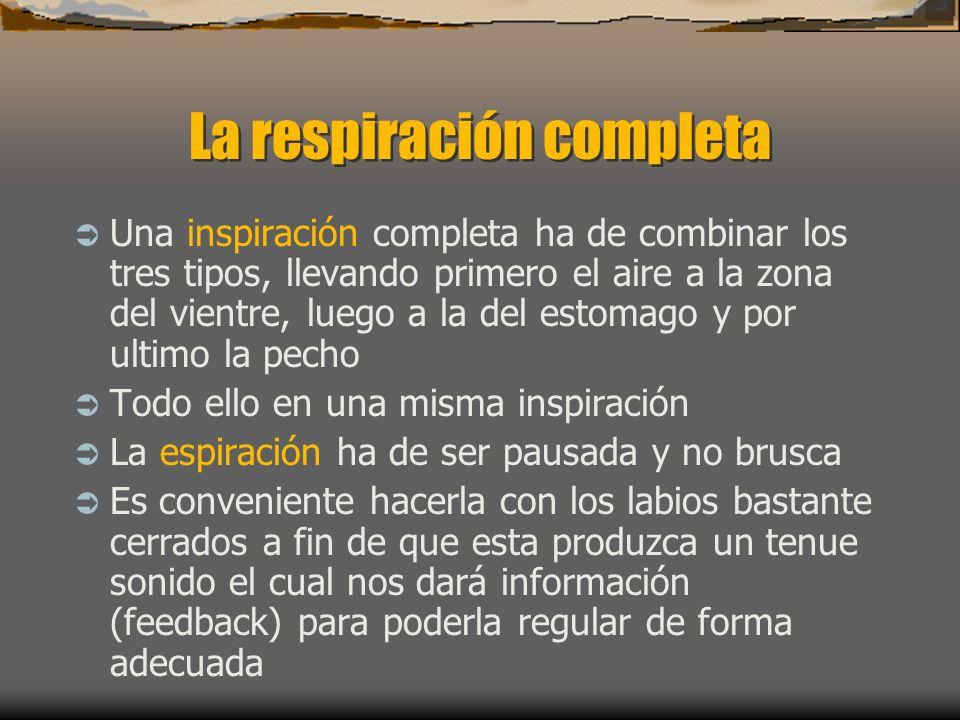 Los 3 tipos de respiración 1. La respiración clavicular es la más superficial y el peor tipo posible. Durante la inhalación los hombros y la clavícula