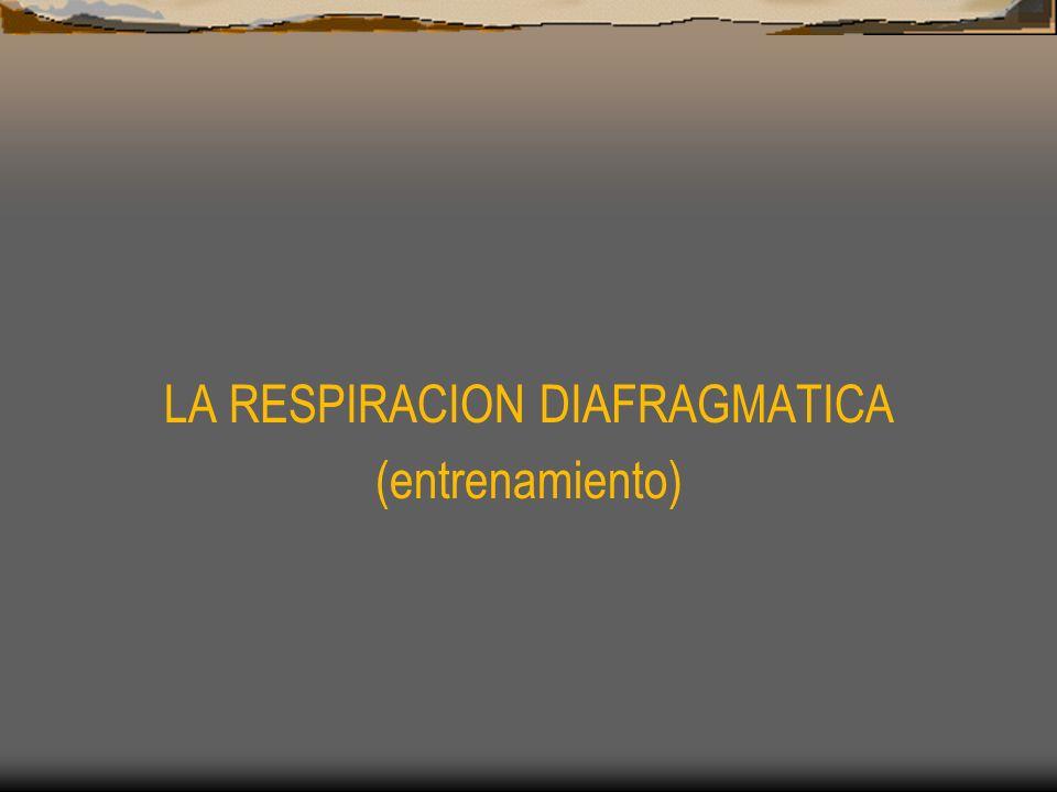 LA RESPIRACION DIAFRAGMATICA (entrenamiento)