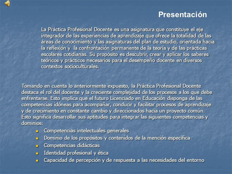 Tomando en cuenta lo anteriormente expuesto, la Práctica Profesional Docente destaca el rol del docente y la creciente complejidad de los procesos a l
