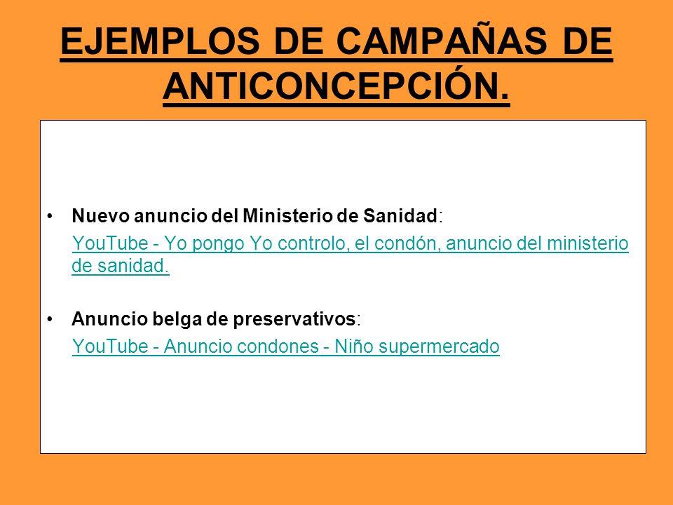 EJEMPLOS DE CAMPAÑAS DE ANTICONCEPCIÓN. Nuevo anuncio del Ministerio de Sanidad: YouTube - Yo pongo Yo controlo, el condón, anuncio del ministerio de
