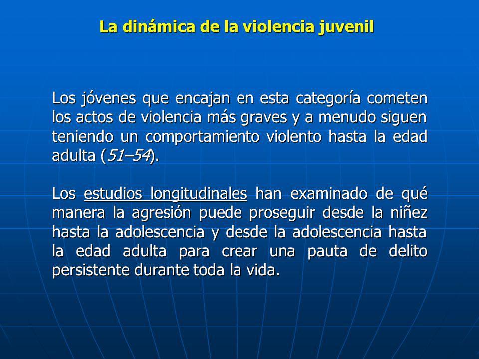 Los jóvenes que encajan en esta categoría cometen los actos de violencia más graves y a menudo siguen teniendo un comportamiento violento hasta la eda