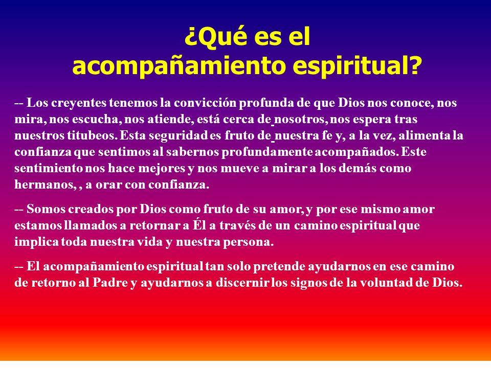 ¿Qué es el acompañamiento espiritual? -- Los creyentes tenemos la convicción profunda de que Dios nos conoce, nos mira, nos escucha, nos atiende, está