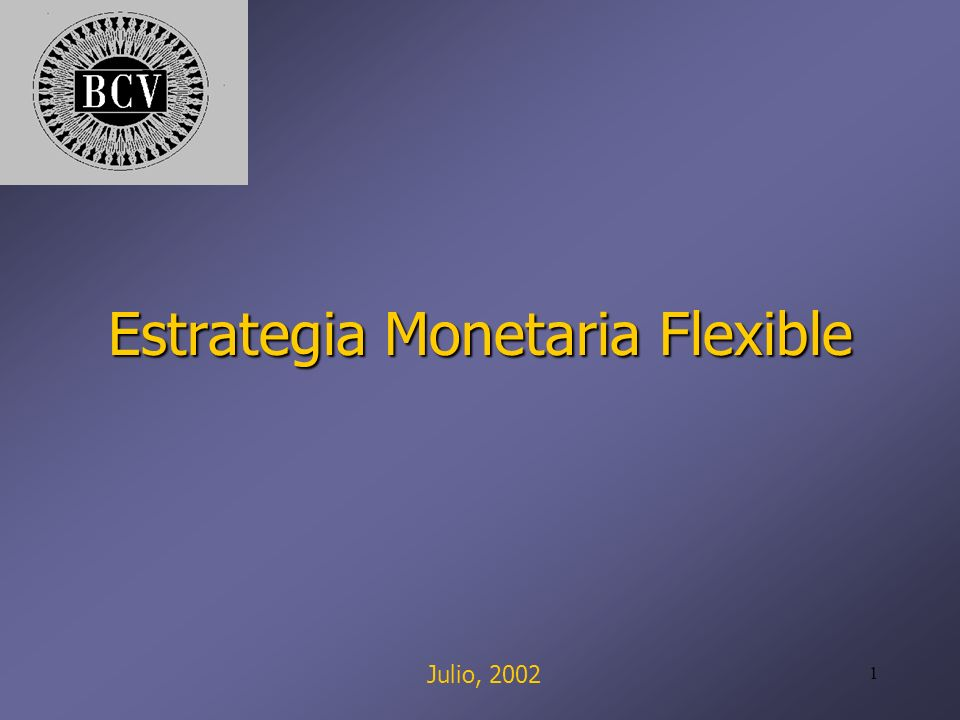 1 Estrategia Monetaria Flexible Julio, 2002