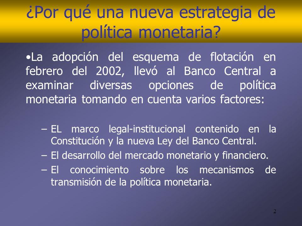 2 ¿Por qué una nueva estrategia de política monetaria.