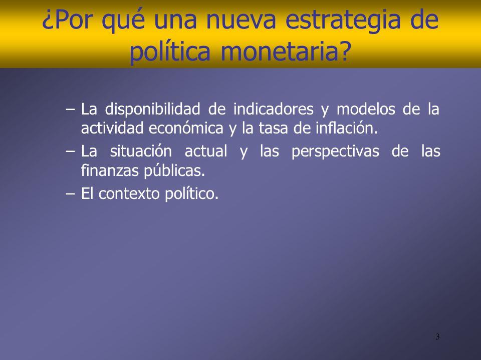 3 ¿Por qué una nueva estrategia de política monetaria.