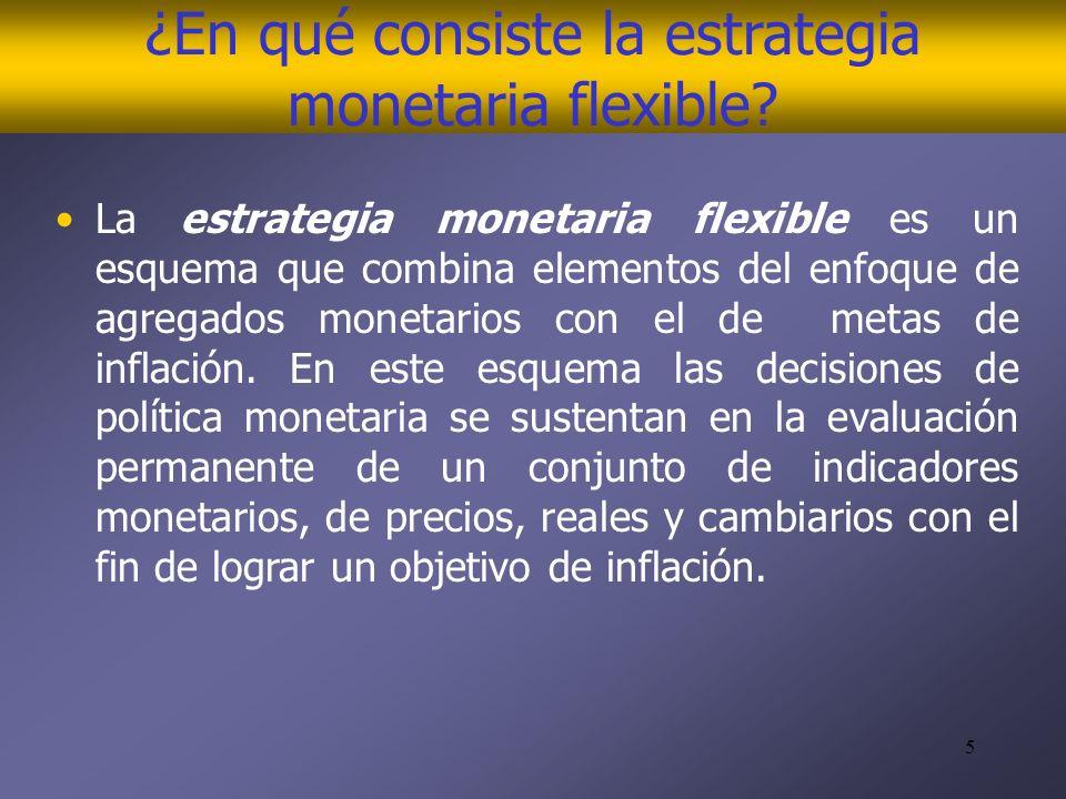 5 ¿En qué consiste la estrategia monetaria flexible.