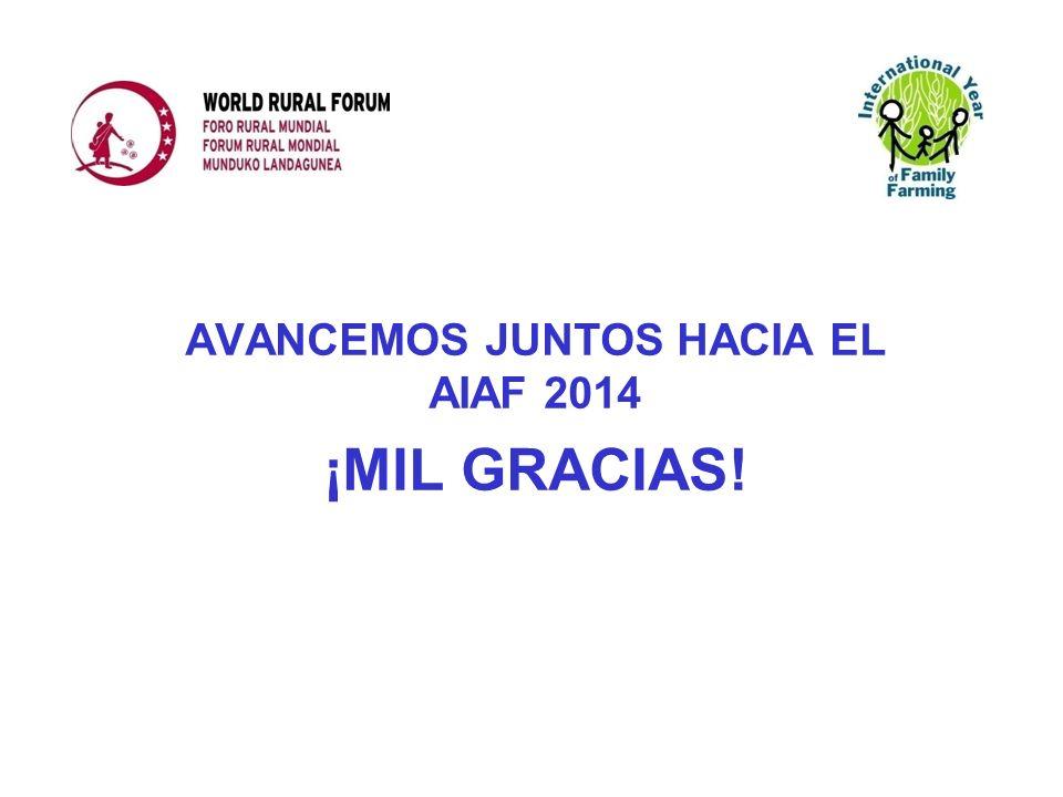 AVANCEMOS JUNTOS HACIA EL AIAF 2014 ¡MIL GRACIAS!