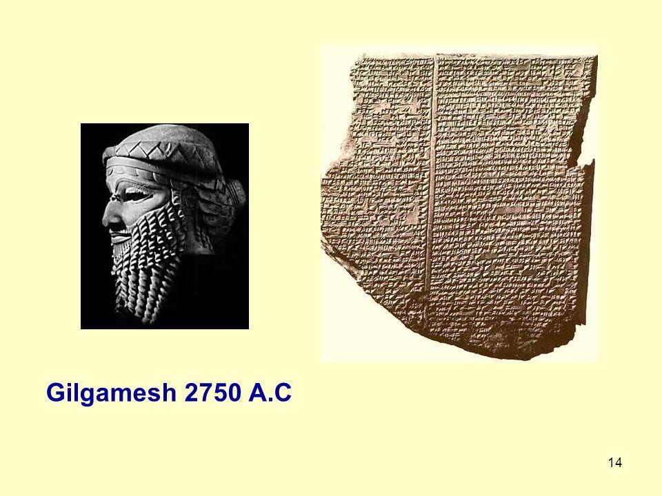 14 Gilgamesh 2750 A.C