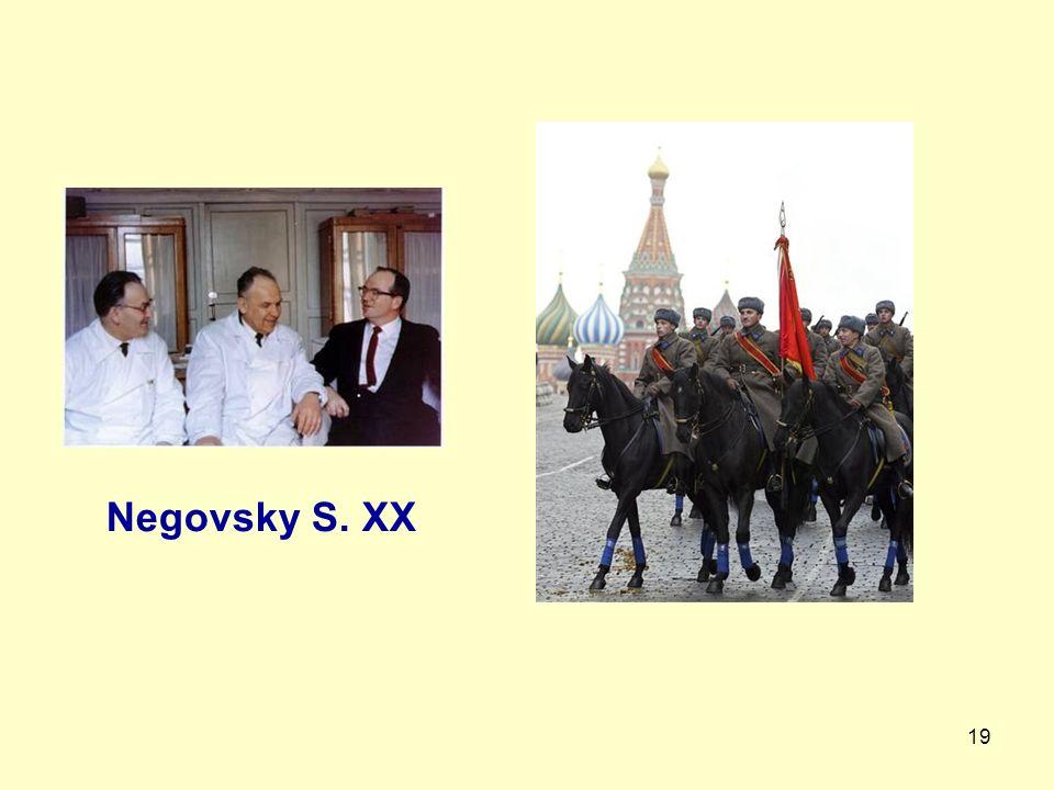 19 Negovsky S. XX