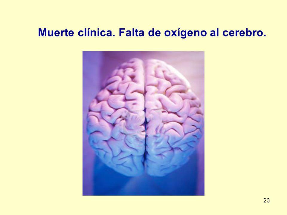 23 Muerte clínica. Falta de oxígeno al cerebro.