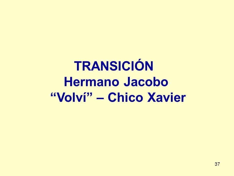 37 TRANSICIÓN Hermano Jacobo Volví – Chico Xavier