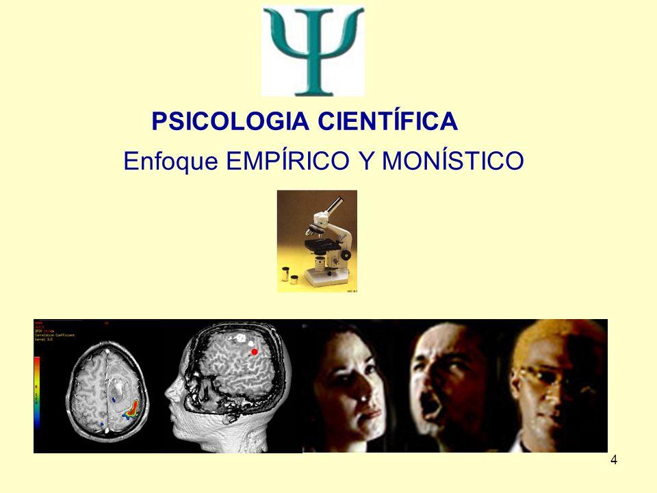 4 PSICOLOGIA CIENTÍFICA Enfoque EMPÍRICO Y MONÍSTICO