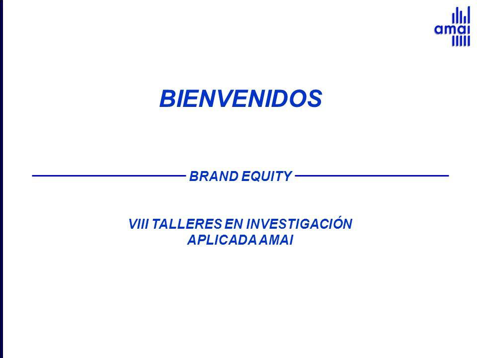 BIENVENIDOS BRAND EQUITY VIII TALLERES EN INVESTIGACIÓN APLICADA AMAI