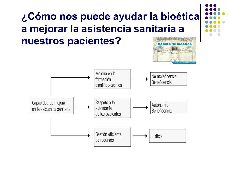 ¿Cómo nos puede ayudar la bioética a mejorar la asistencia sanitaria a nuestros pacientes?