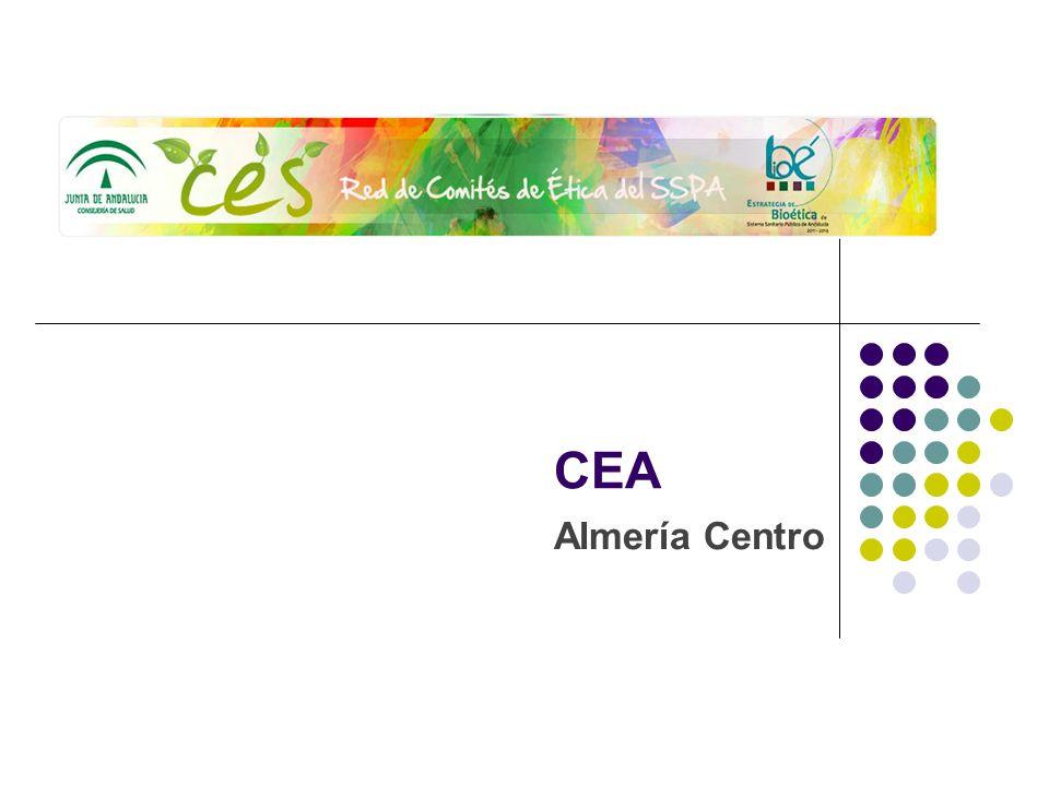 CEA Almería Centro Sede Administrativa: en el Hospital Torrecárdenas Correo electrónico: comite_etica_cht.hto.sspa@juntadeandalucia.es Página web de la red de comités éticos de Andalucía: http://si.easp.es/eticaysalud/content/cea- almeria, a través del apartado enlaces en la página web del Hospital Torrecárdenas.