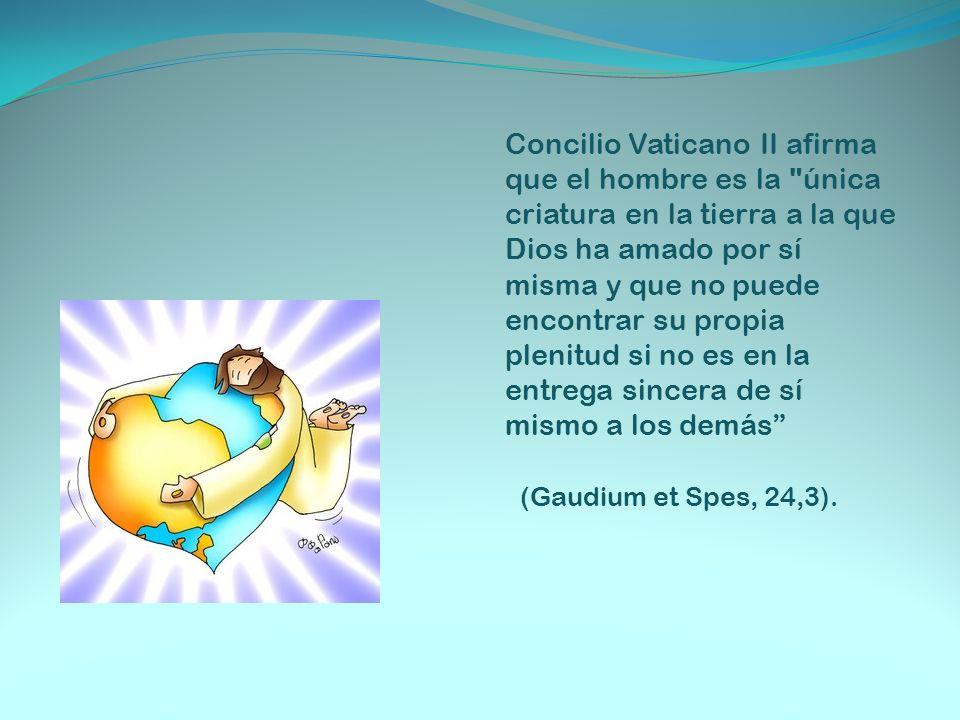 Concilio Vaticano II afirma que el hombre es la