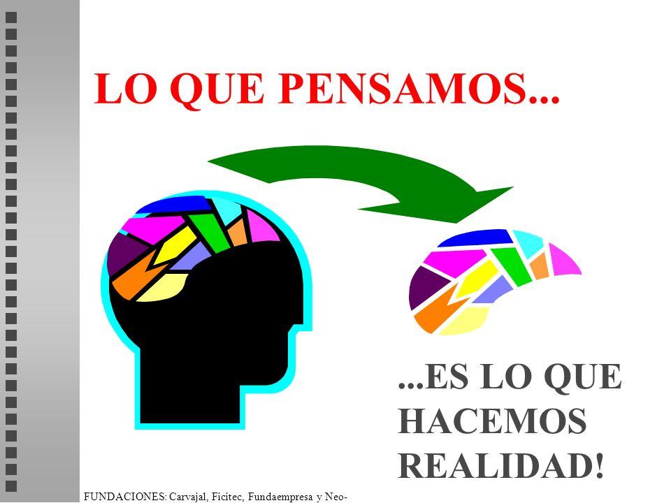 FUNDACIONES: Carvajal, Ficitec, Fundaempresa y Neo- Humanista. LO QUE PENSAMOS......ES LO QUE HACEMOS REALIDAD!