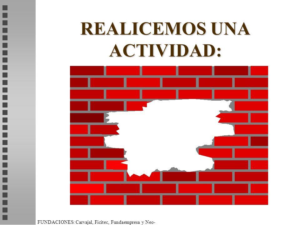 FUNDACIONES: Carvajal, Ficitec, Fundaempresa y Neo- Humanista. REALICEMOS UNA ACTIVIDAD: