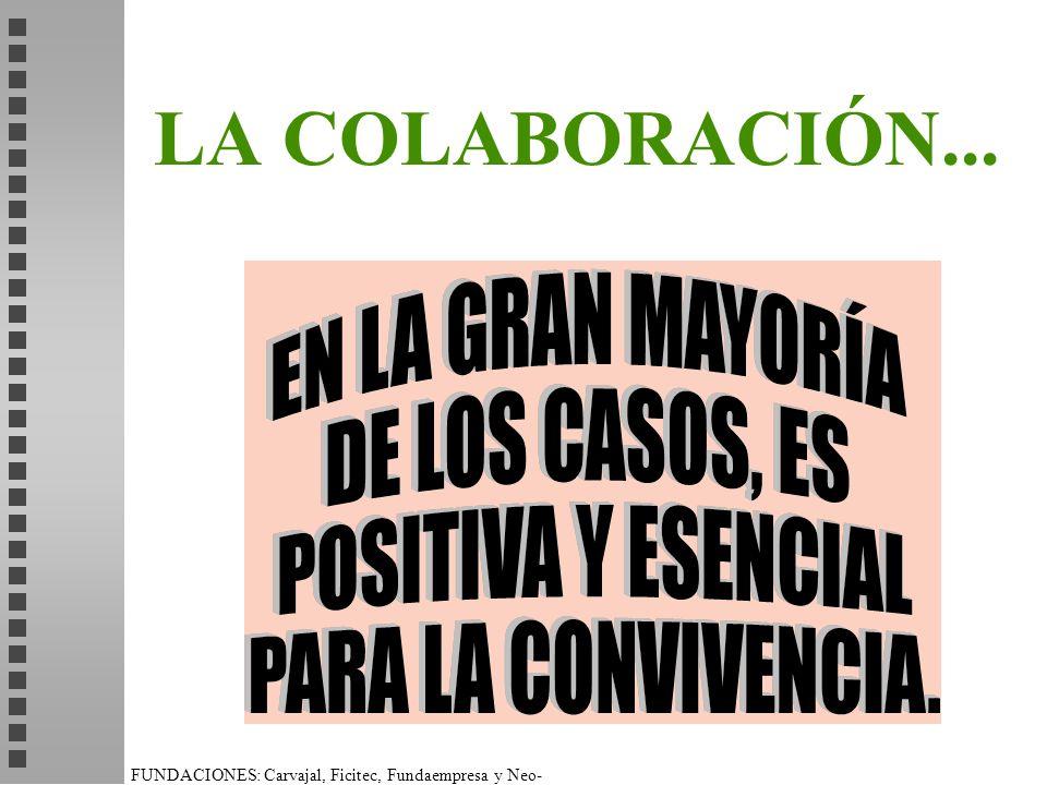 FUNDACIONES: Carvajal, Ficitec, Fundaempresa y Neo- Humanista. LA COLABORACIÓN...