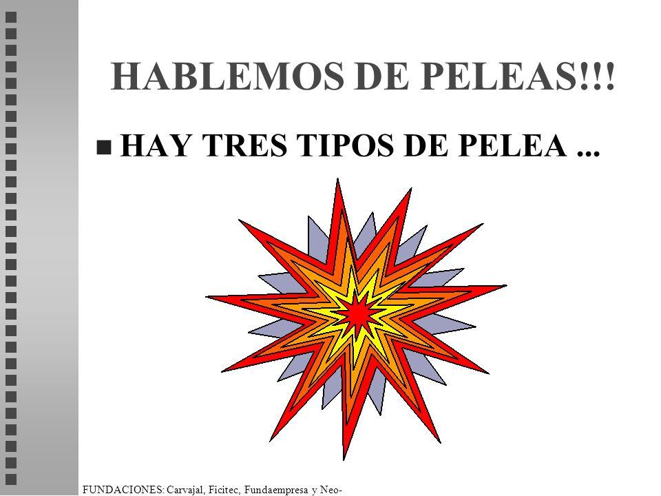 FUNDACIONES: Carvajal, Ficitec, Fundaempresa y Neo- Humanista. HABLEMOS DE PELEAS!!! n HAY TRES TIPOS DE PELEA...