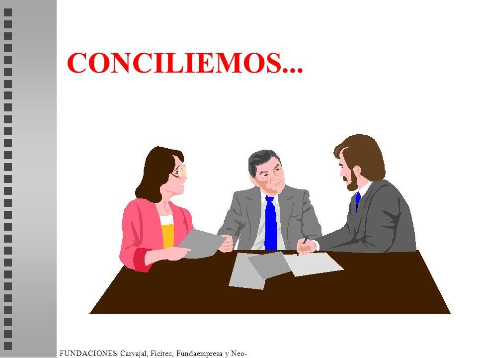 FUNDACIONES: Carvajal, Ficitec, Fundaempresa y Neo- Humanista. CONCILIEMOS...