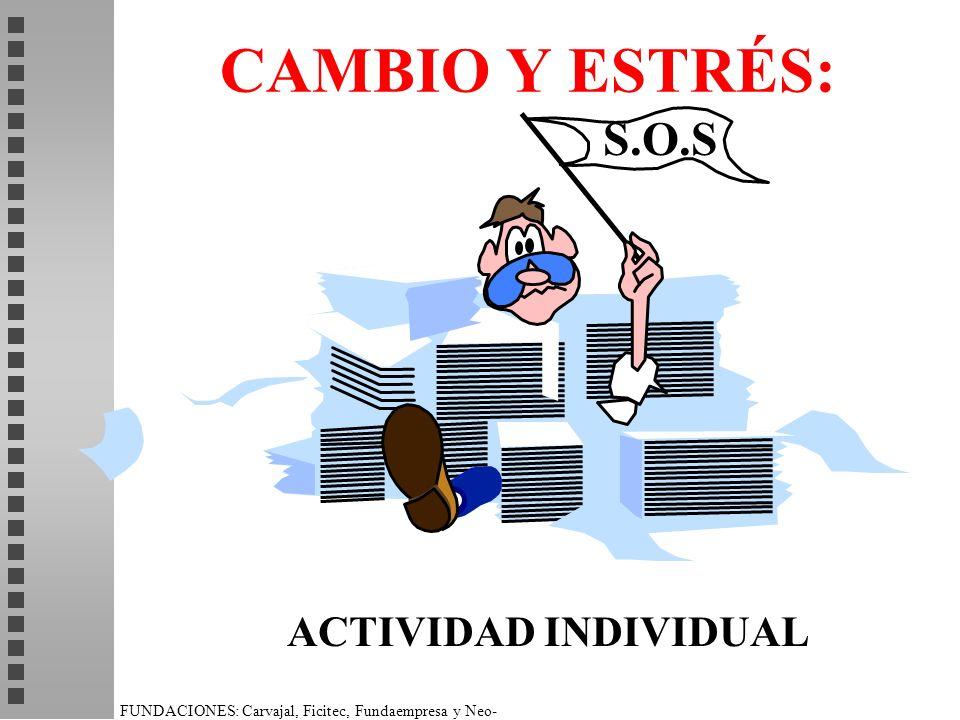CAMBIO Y ESTRÉS: S.O.S ACTIVIDAD INDIVIDUAL