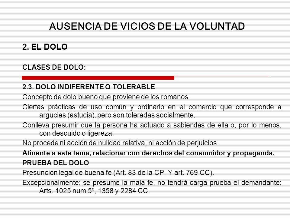 2.EL DOLO CLASES DE DOLO: 2.3.