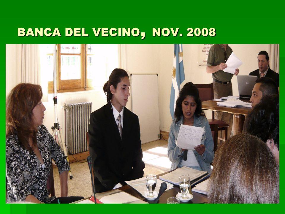 BANCA DEL VECINO, NOV. 2008