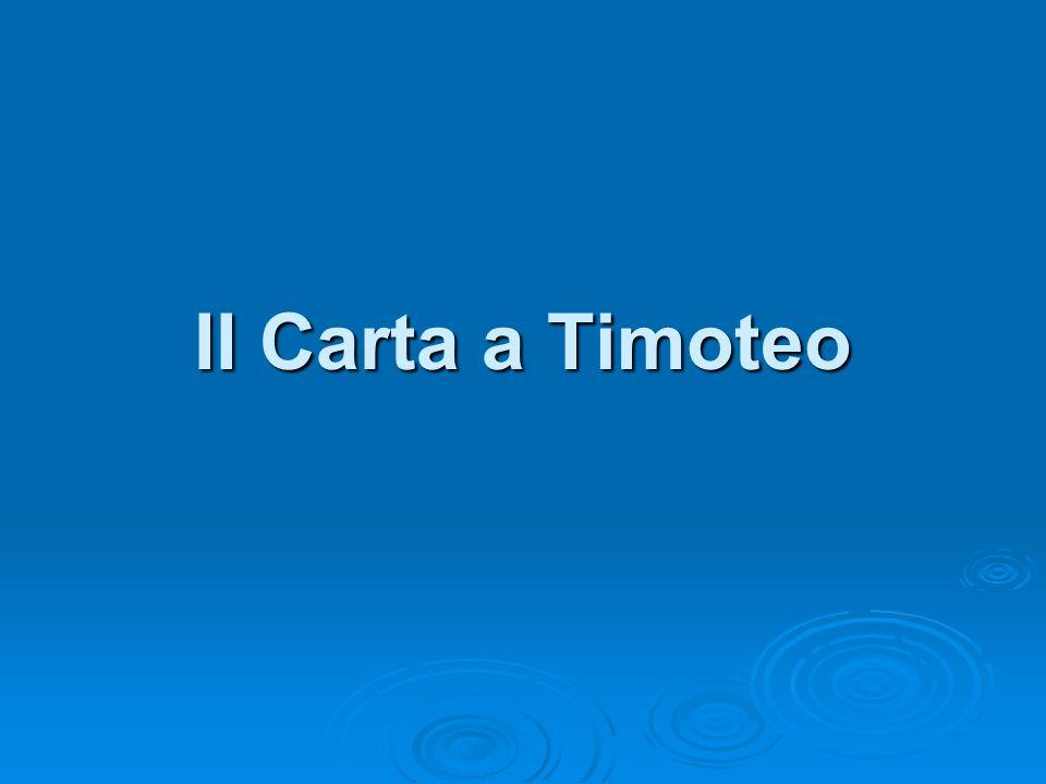II Carta a Timoteo