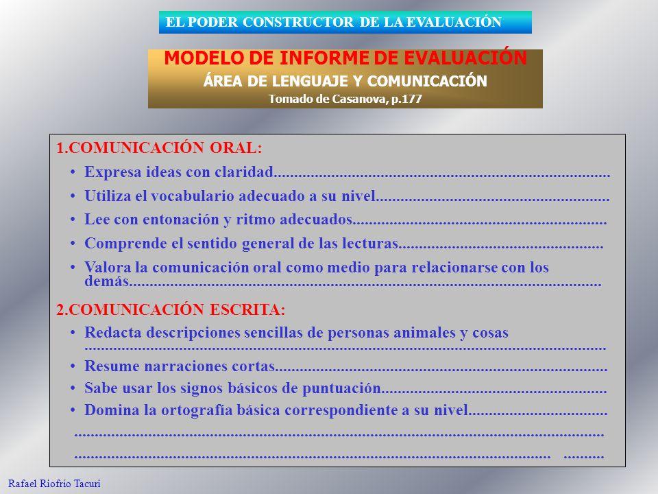 95 1.COMUNICACIÓN ORAL: Expresa ideas con claridad.................................................................................. Utiliza el vocabu