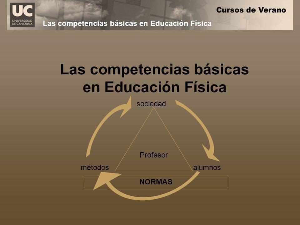 Las competencias básicas en Educación Física Profesor sociedad alumnosmétodos NORMAS Las competencias básicas en Educación Física