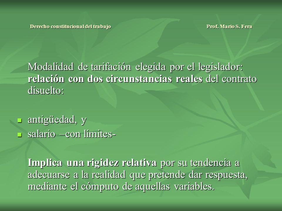 Derecho constitucional del trabajo Prof. Mario S.