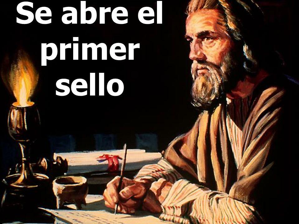 Juan dice: Ahora yo vi cuando el Cordero abrió uno de los sellos. Quién es el Cordero? Jesús. Vemos aquí a Jesús, abriendo los sellos de la historia c