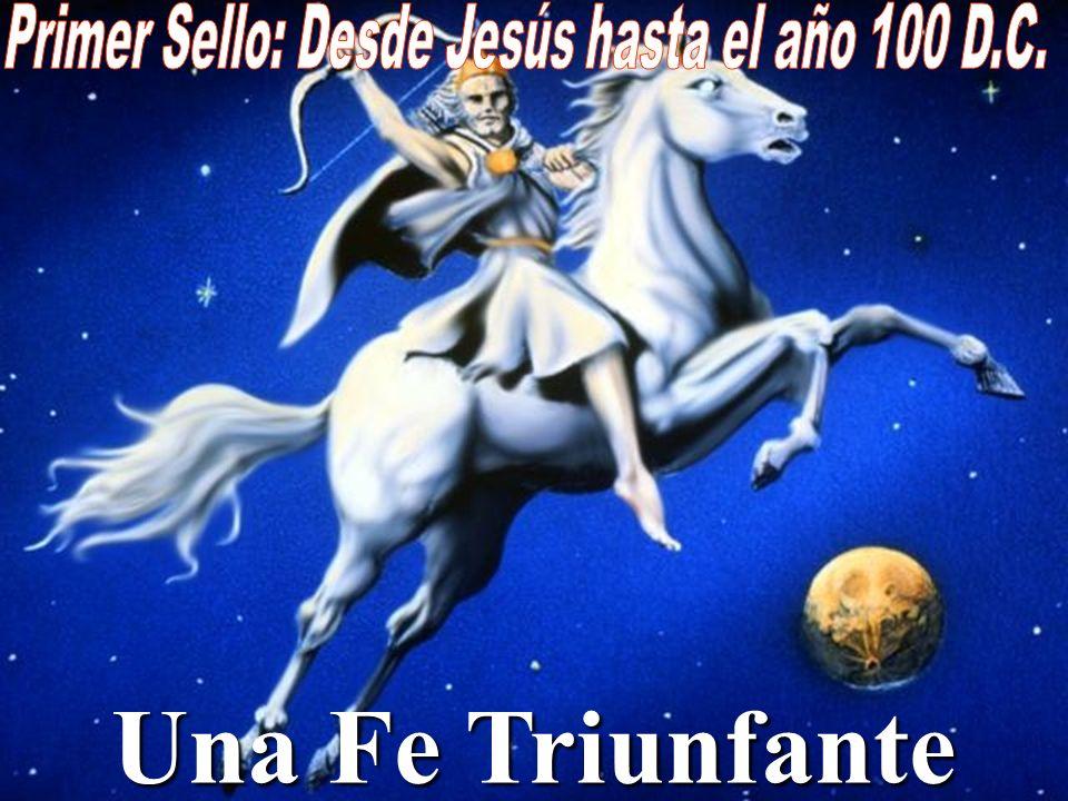 Apocalipsis 6:2 Y miré, y he aquí un caballo blanco; y el que lo montaba tenía un arco; y le fue dada una corona y salió venciendo y para vencer.