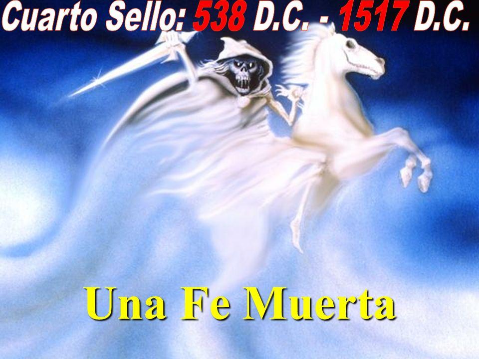 Apocalipsis 6:7-8 6:7-8 Cuando abrió el cuarto sello, oí la voz del cuarto ser viviente, que decía: Ven y mira. Miré, y he aquí un caballo amarillo y