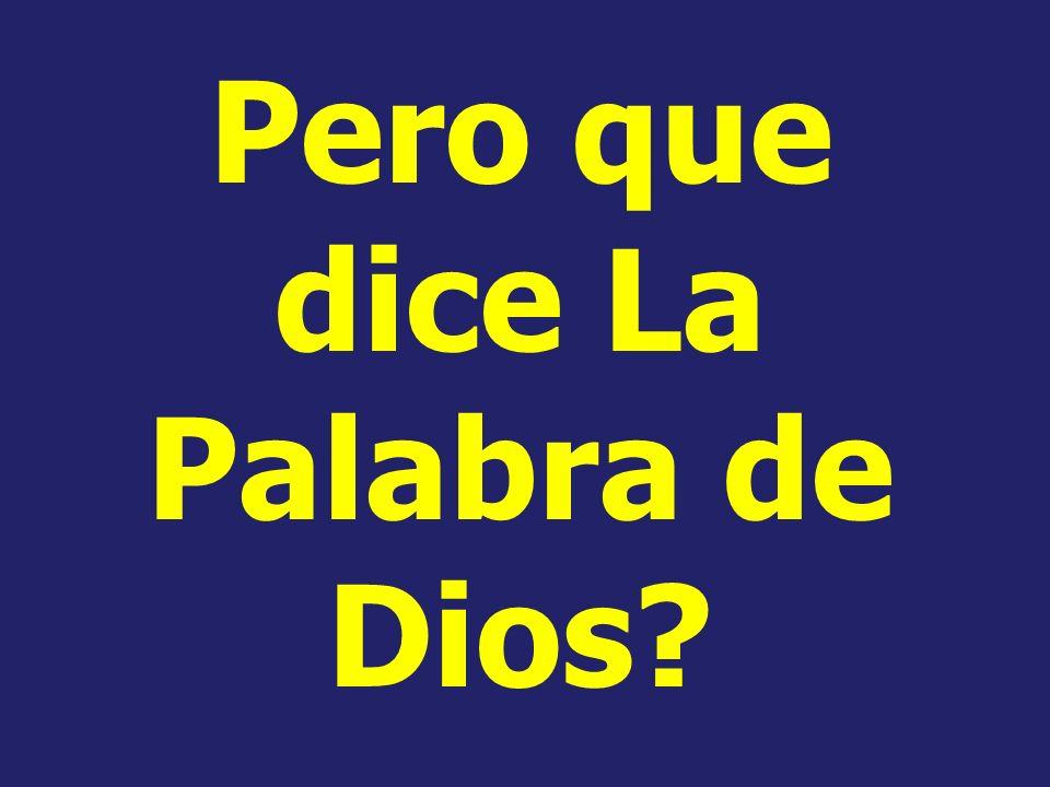 Pero sería la Palabra de Dios pisoteada, y silenciada para siempre? Sería la Palabra de Dios echada por tierra para siempre? Sería la voz de Dios call