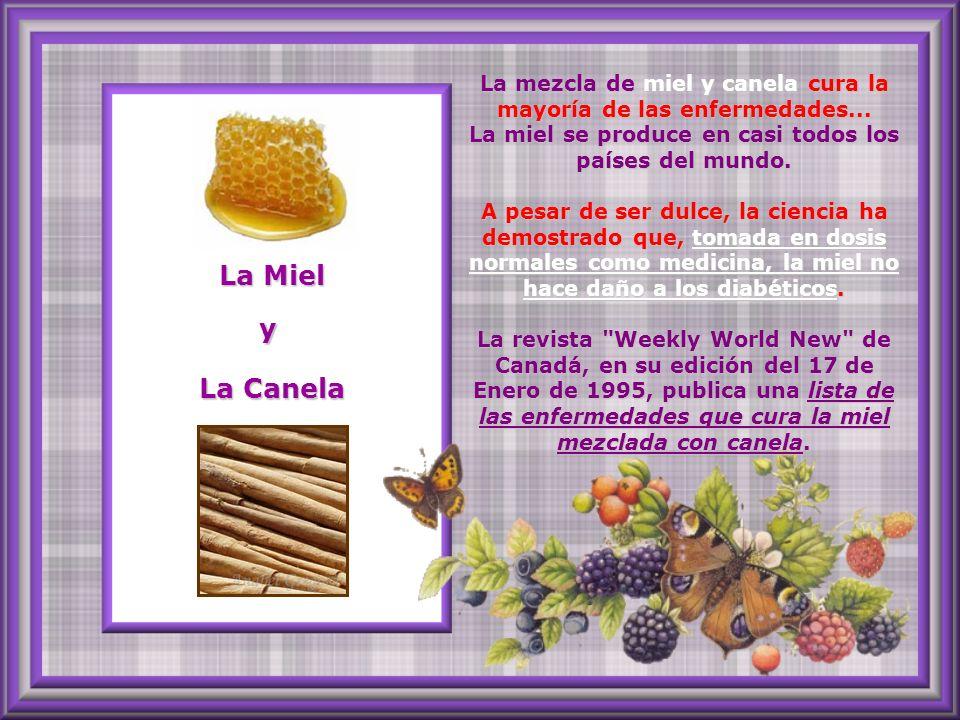 La mezcla de miel y canela cura la mayoría de las enfermedades...