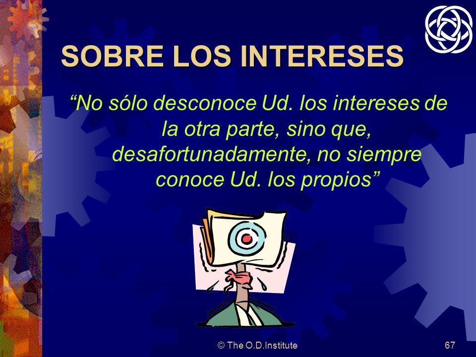 © The O.D.Institute67 SOBRE LOS INTERESES No sólo desconoce Ud.