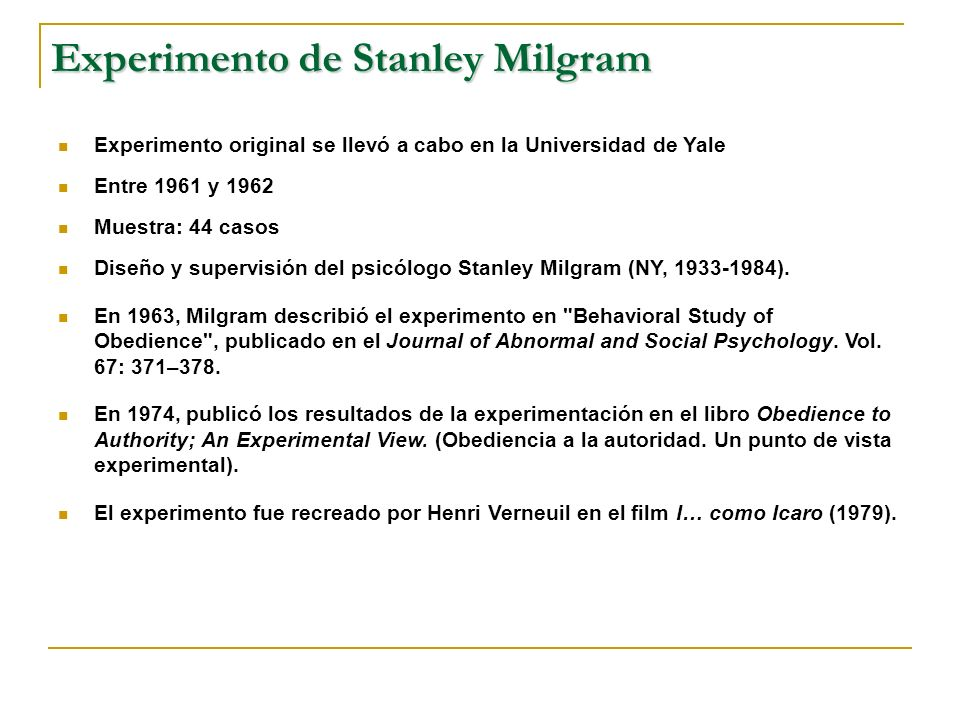 behavioral study of obedience stanley milgram the milgram stanley 1963 behavioural study of obedience the main aim of milgrams 1963 experiment was to investigate the level of obedience was to investigate the level of obedience would be shown when participants were told by an authority figure to administer electric shocks to another person.
