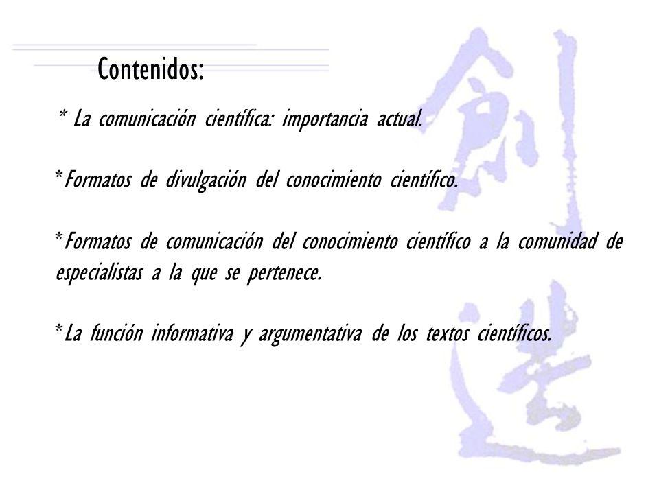 * Estructura básica de los textos científicos.Introducción.