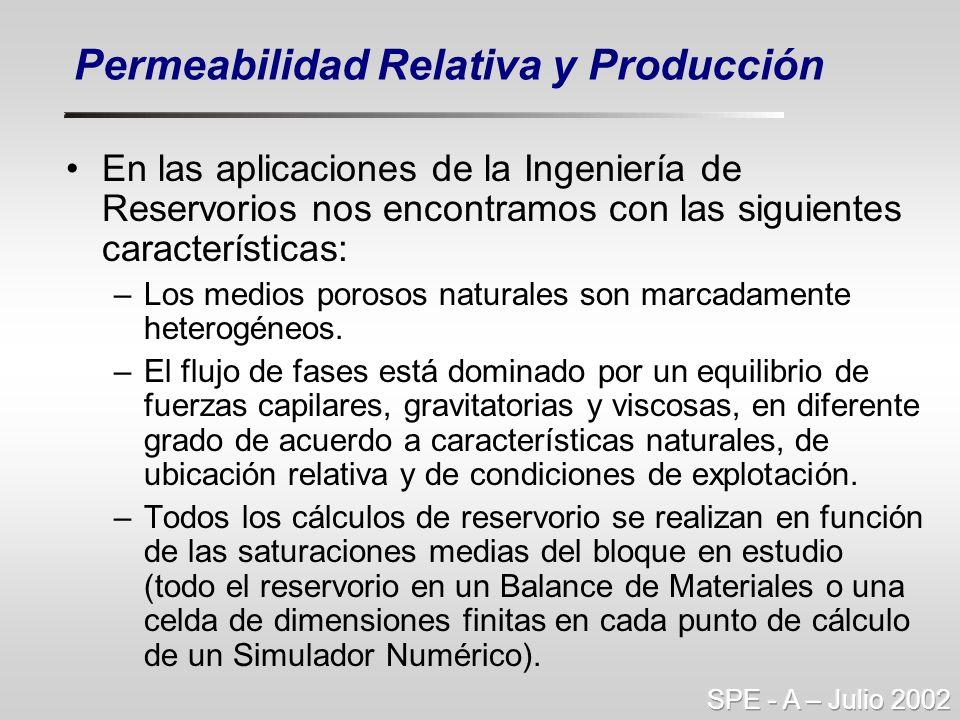 En las aplicaciones de la Ingeniería de Reservorios nos encontramos con las siguientes características: –Los medios porosos naturales son marcadamente