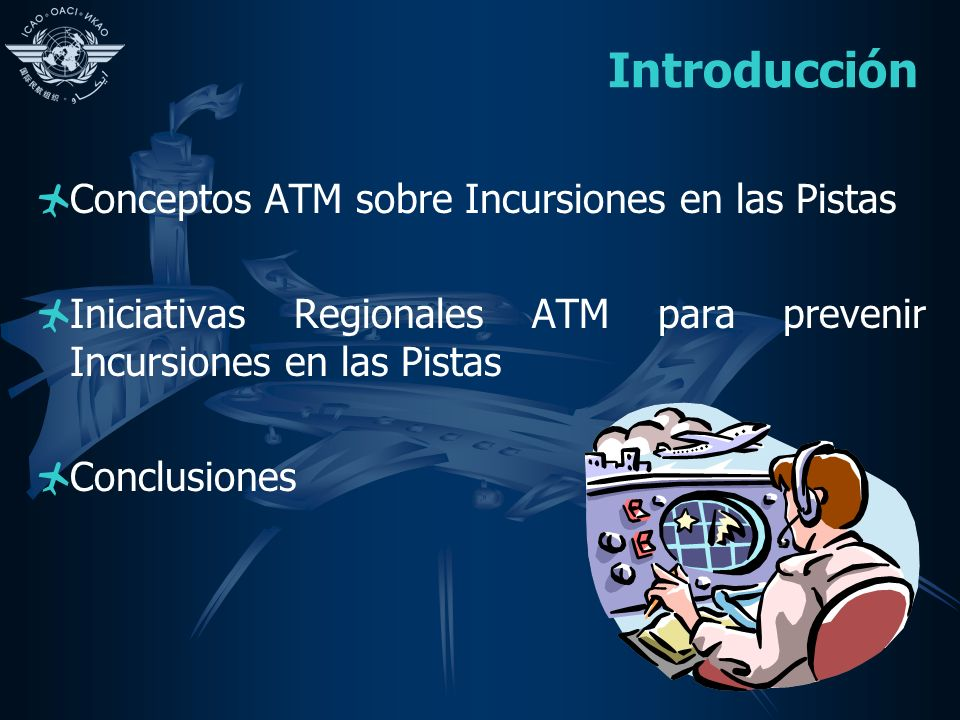 Introducción Conceptos ATM sobre Incursiones en las Pistas Iniciativas Regionales ATM para prevenir Incursiones en las Pistas Conclusiones