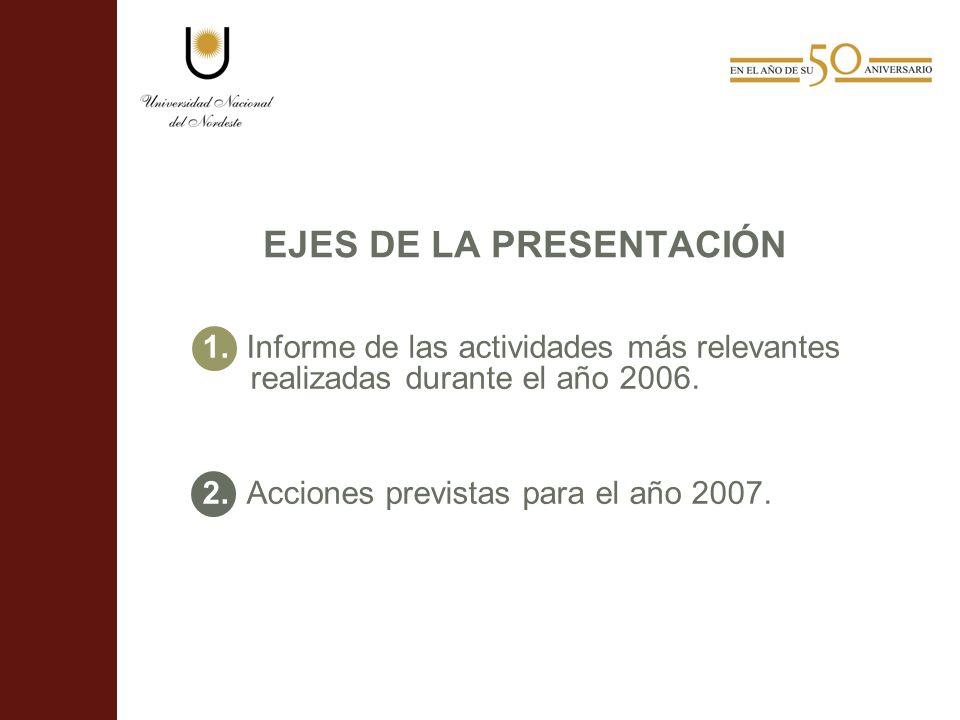 EJES DE LA PRESENTACIÓN 1.
