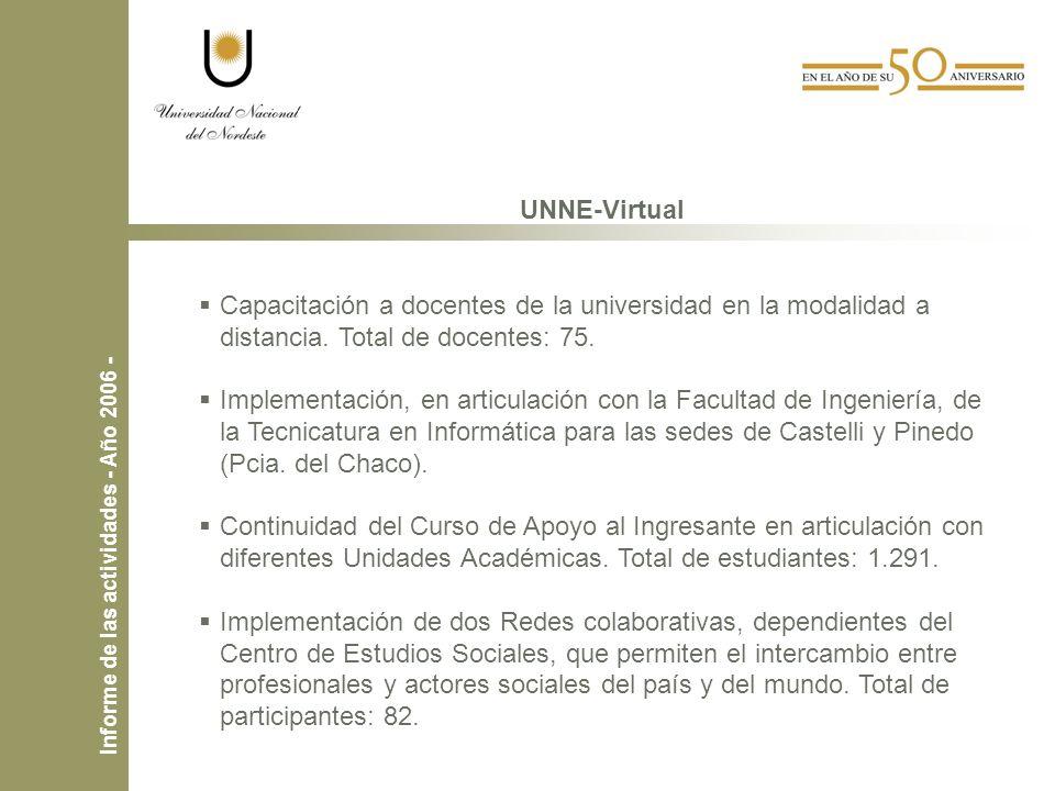 UNNE-Virtual Capacitación a docentes de la universidad en la modalidad a distancia.