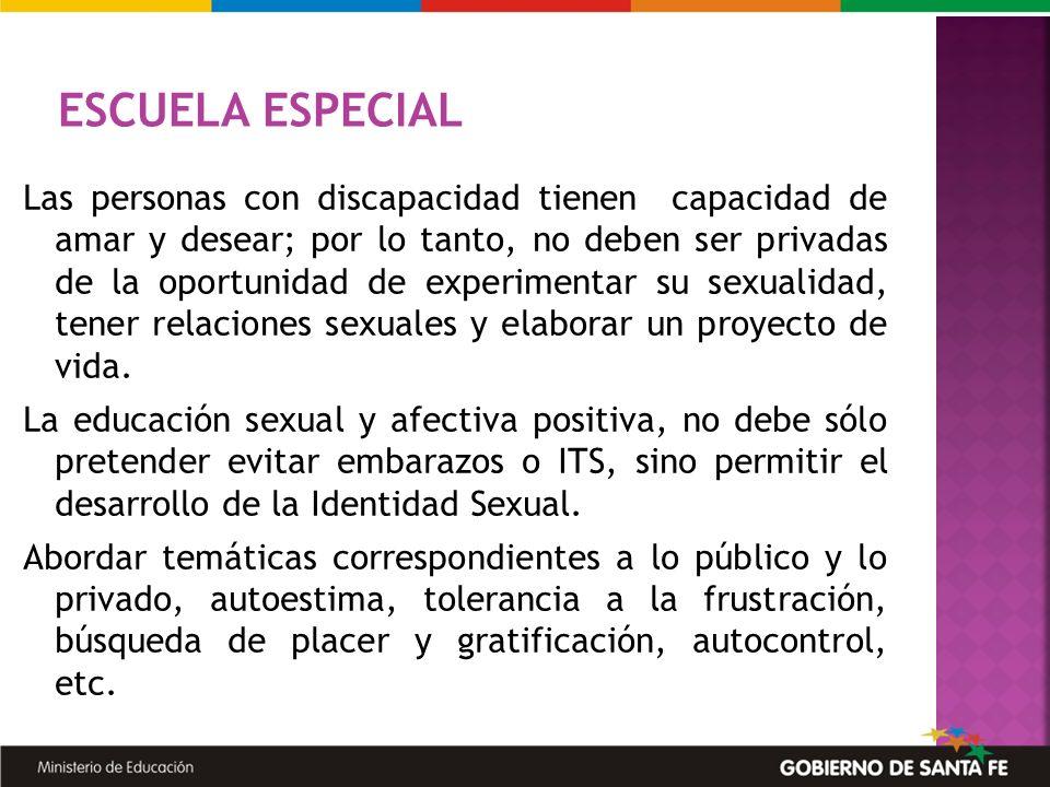 Las personas con discapacidad tienen capacidad de amar y desear; por lo tanto, no deben ser privadas de la oportunidad de experimentar su sexualidad,
