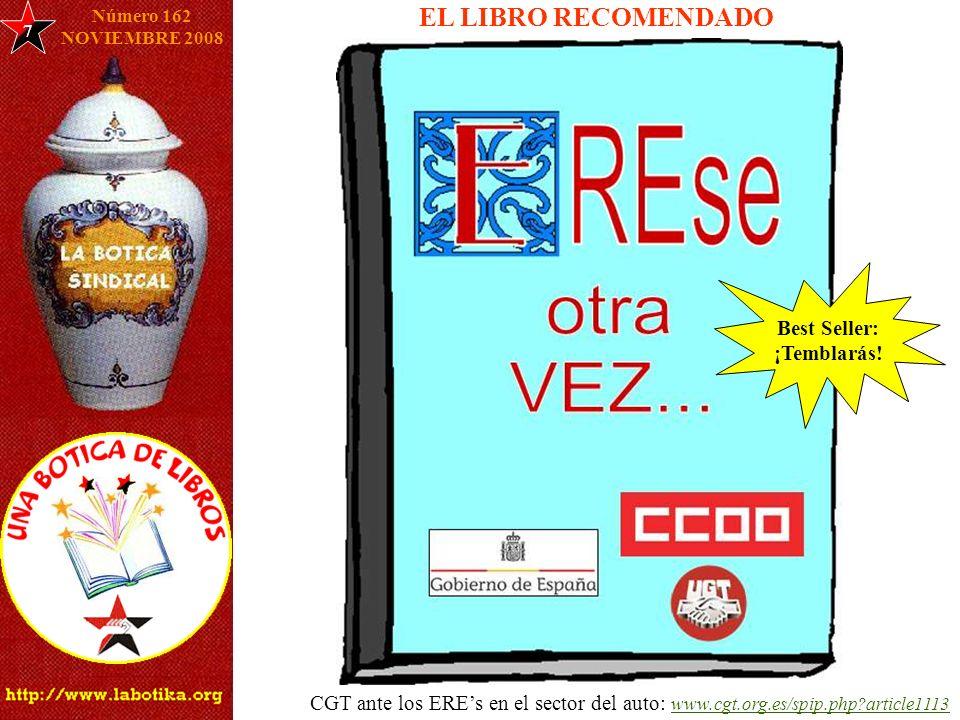 EL LIBRO RECOMENDADO 7 Número 162 NOVIEMBRE 2008 Best Seller: ¡Temblarás.