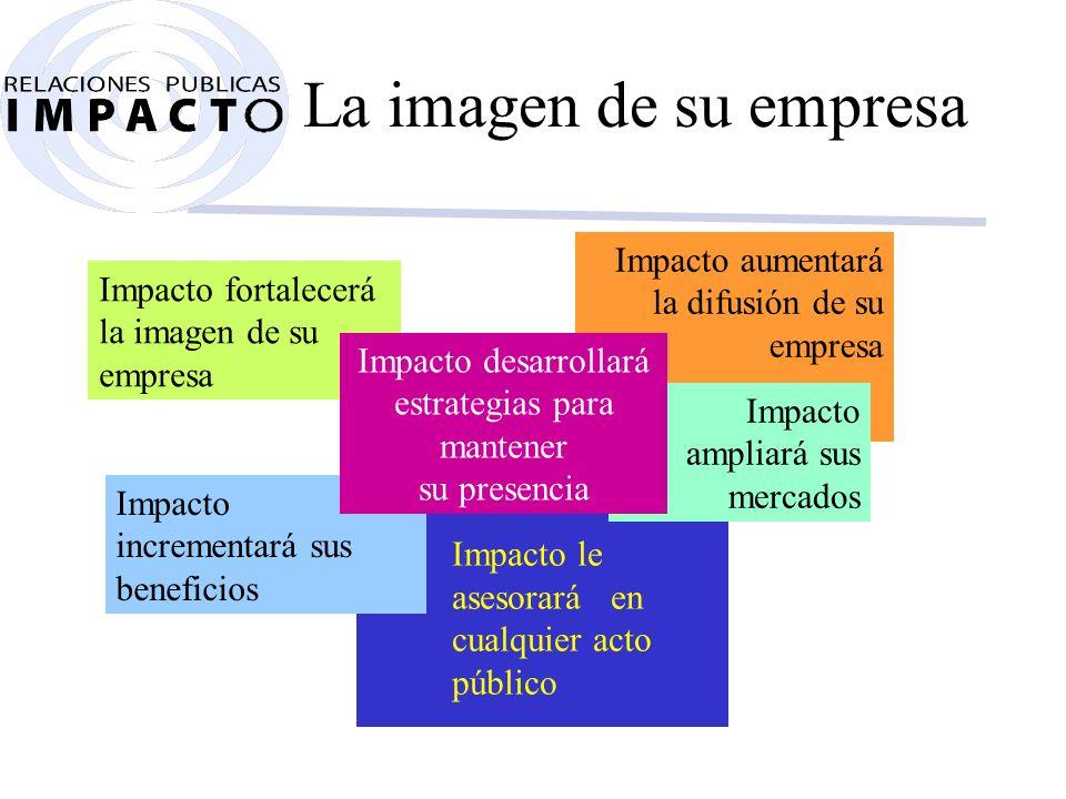 Acerca de RP Impacto Relaciones Públicas Impacto posee un capital social de 100 millones.