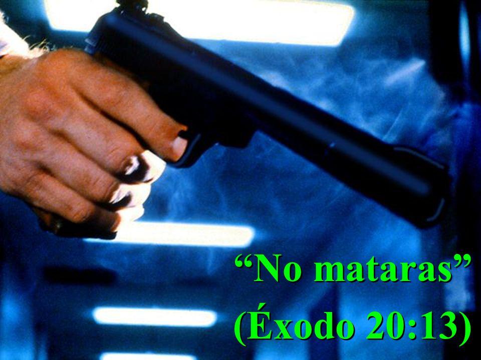 No mataras (Éxodo 20:13) No mataras (Éxodo 20:13)
